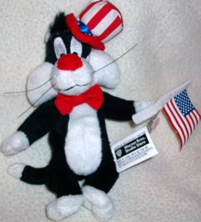 """WARNER BROTHERS STUDIO STORE LOONEY TUNES BABY SYLVESTER 7/"""" PLUSH BEAN BAG TOY"""