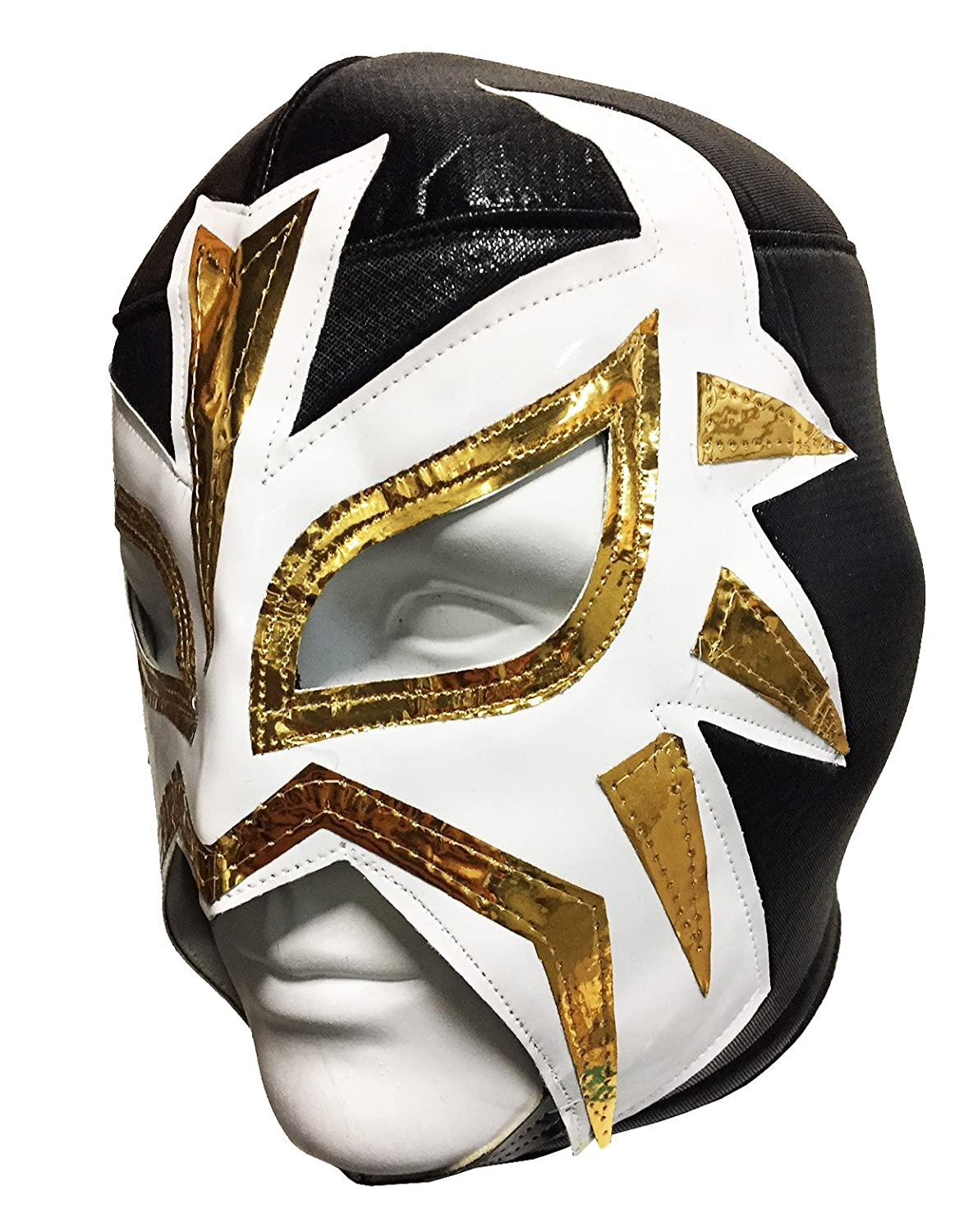 Amazon.com : LA MASCARA Adult Lucha Libre Wrestling Mask (pro-fit) Costume Wear - BLACK : Airsoft Masks : Sports & Outdoors