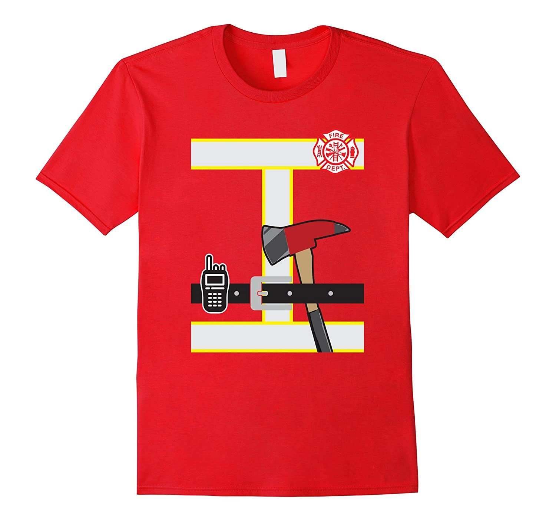 Kids Fireman Shirt Children's Firefighter tShirt Halloween-T-Shirt