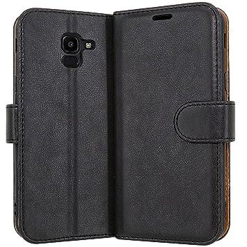 online retailer 4e984 2f150 Case Collection Premium Leather Folio Cover for Samsung Galaxy J6 Case 5.6