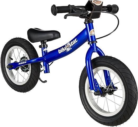 BIKESTAR - Bicicleta de Equilibrio para niños a Partir de 3 años, con Soporte Lateral y Frenos | Edición Deportiva 30 cm | Azul: Amazon.es: Juguetes y juegos