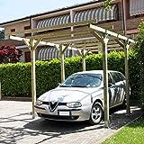 ONLYWOOD - Tettoia in legno per auto cm. 300 x 500 LUPO