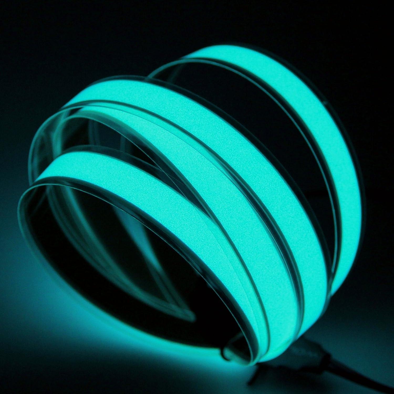 El Tape 1 Meter El Strip with 12-Volt DC Inverter Blue//Green