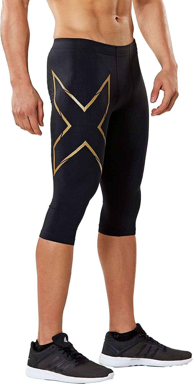 Image of 2XU Men's 3/4 MCS Thermal Compression Tights Active