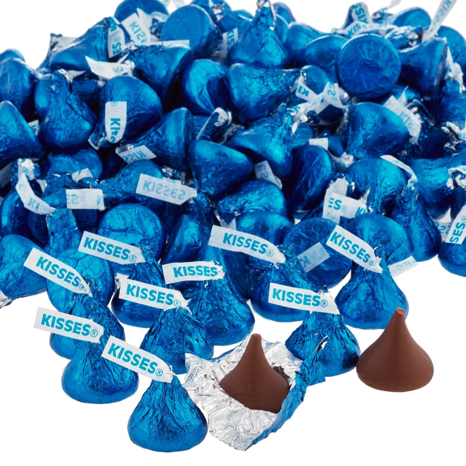 HERSHEY'S KISSES Chocolate Candy, Dark Blue Foils, 4.1lb Bulk Candy, approx. 400 Pieces. Perfect for Graduation and 4th of July Decorations by Kisses (Image #11)
