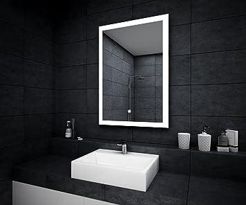 Design Badspiegel mit LED Beleuchtung Wandspiegel Badezimmerspiegel ...