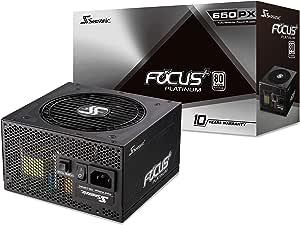 Seasonic FOCUS Plus 650 Platinum SSR-650PX 650W 80+ Platinum ATX12V & EPS12V Full Modular 120mm FDB Fan Compact 140 mm Size Power Supply