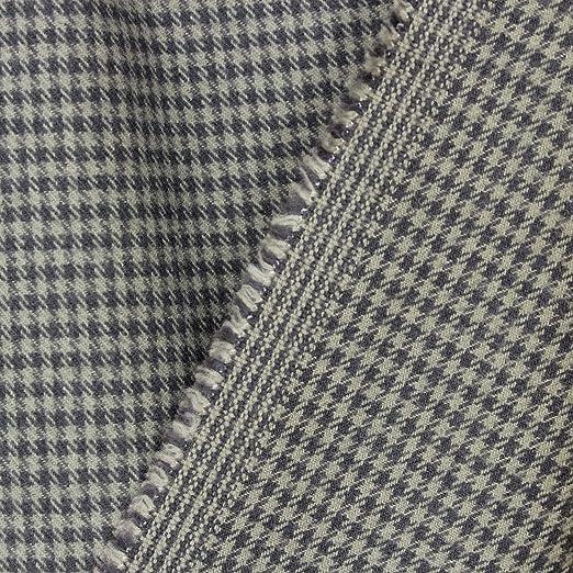 kawenSTOFFE - Tela de Franela de algodón, Color Gris, diseño a ...