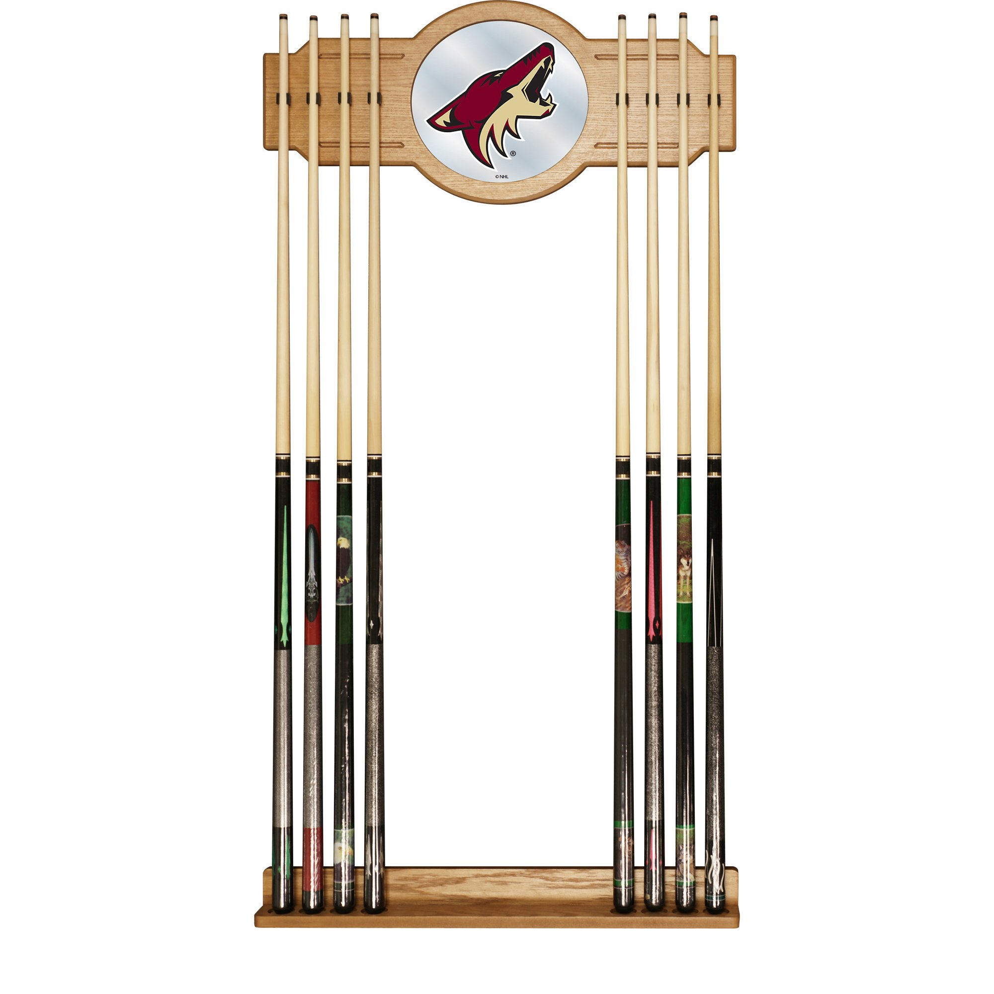 Trademark Gameroom NHL Arizona Coyotes Cue Rack with Mirror
