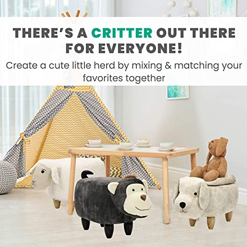 Critter Sitters 15-in. Seat Height Plush Animal Shape Easter Bunny Storage Ottoman Review