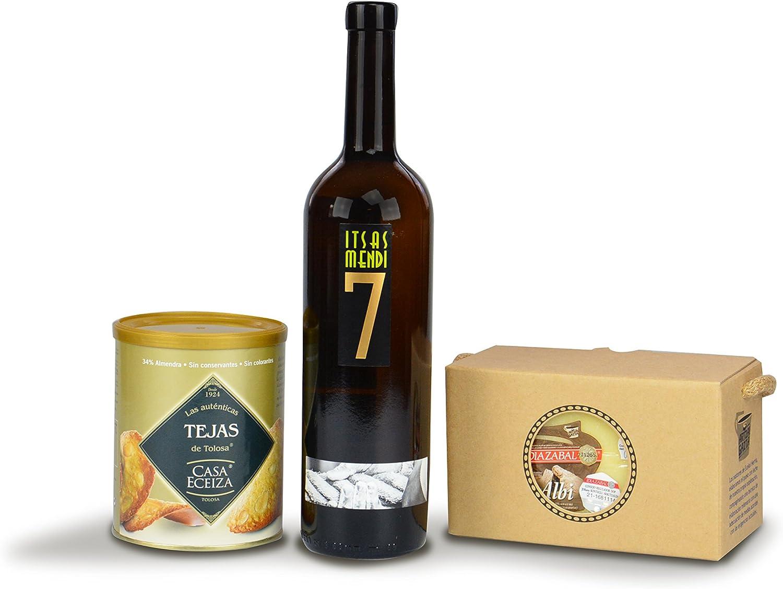 Cesta regalo con productos Gourmet del País Vasco: Amazon.es: Alimentación y bebidas