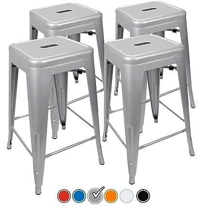 amazon com urbanmod 24 counter height bar stools 330lb capacity