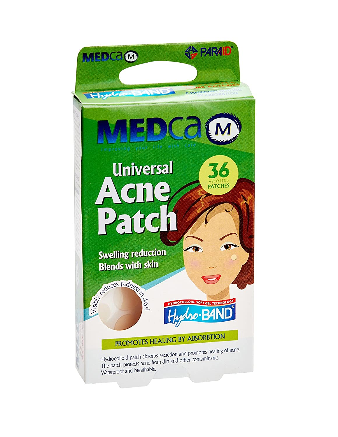 MEDca Universal Acne Pimple Patch Absorbing Cover 36 Count Two Sizes PA-5010