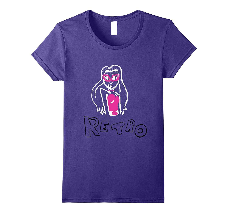 'Retro' Women and Girls' T-Shirt-TH