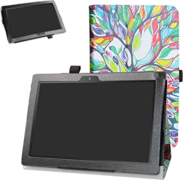 """TPU Case and Screen Protector for Digiland 10.1/"""" Tablet DL1018A // DL1016"""