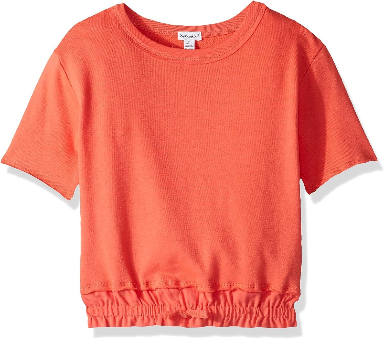 Splendid Girls Big Knit Woven Mix Top