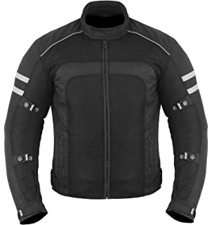 Orange XL 42 Bikers Gear Australia Chicane Lightweight Summer Air Flow Mesh Vented Motorcycle Jacket with CE 1621-1 Removable Armour Waterproof Liner Cordura Black