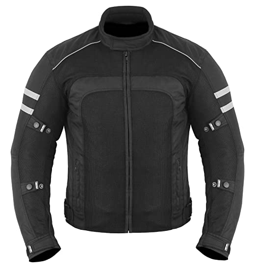81b5daef8d3 Summer Hot Weather Motorbike Motorcyle Jacket Coat CE Armour - Full Black -  Size = Small