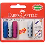 Faber-Castell GRIP 2001 Gomme Caps (Lot de 4)