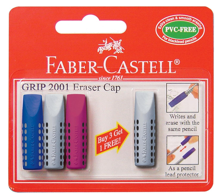 5 Stück FABER-CASTELL Radiergummi Radierer GRIP 2001