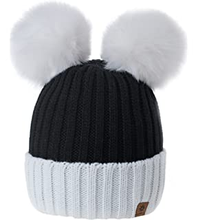 MFAZ Morefaz Ltd Winter Donne Beanie Invernale Berretto Cappello Pom Pom  Doppio Hat Sci Di Moda cdceeb7be662
