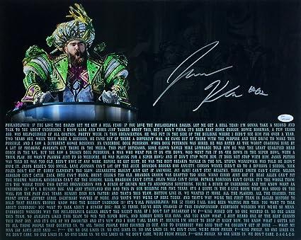 6e104845cdb116 Jason Kelce Signed 16x20 Eagles Super Bowl 52 Parade Speech Transcript  Photo JSA