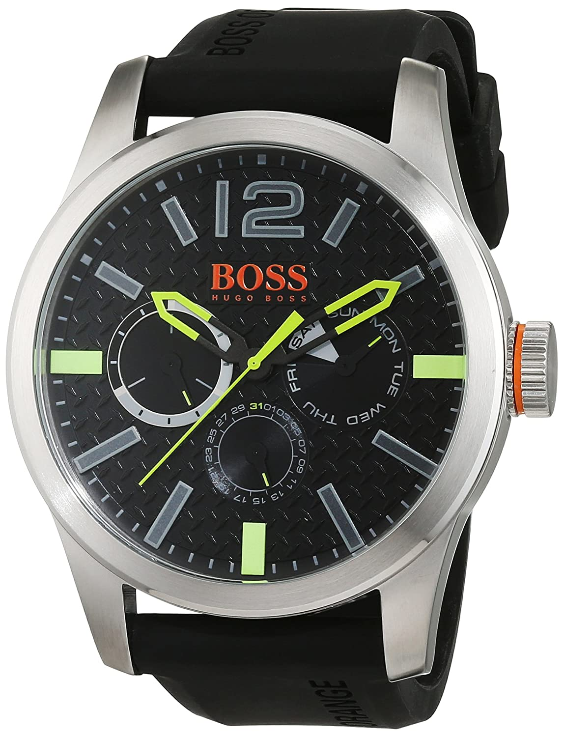 BOSS Orange Herren-Armbanduhr PARIS Analog Quarz Silikon 1513378