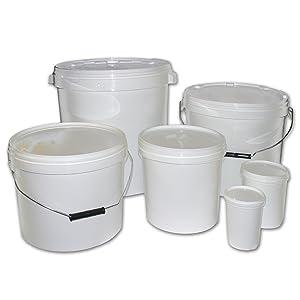 Multi-Purpose Plastic Storage Buckets 30 Litre with Lids   White x 1