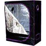 "Apollo Horticulture 48""x24""x60"" Mylar Hydroponic Grow Tent for Indoor Plant Growing"