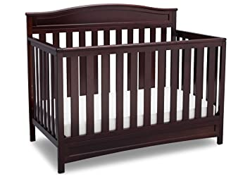 Delta Children Emery 4-in-1 Convertible Baby Crib, Dark Chocolate