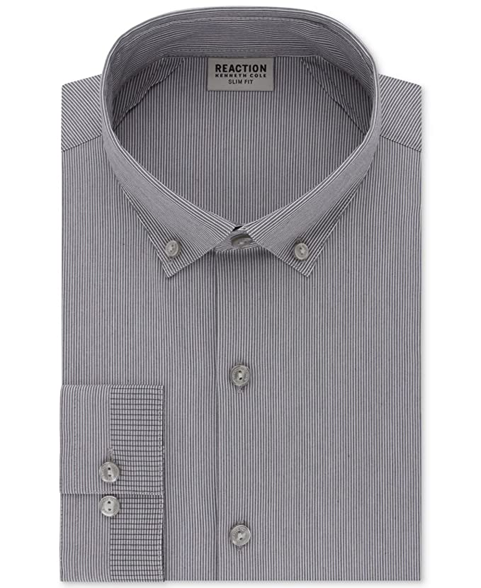 M/&S/&W Mens Fashion Business Custom Fit Long Sleeve Patterns Button Front Shirts