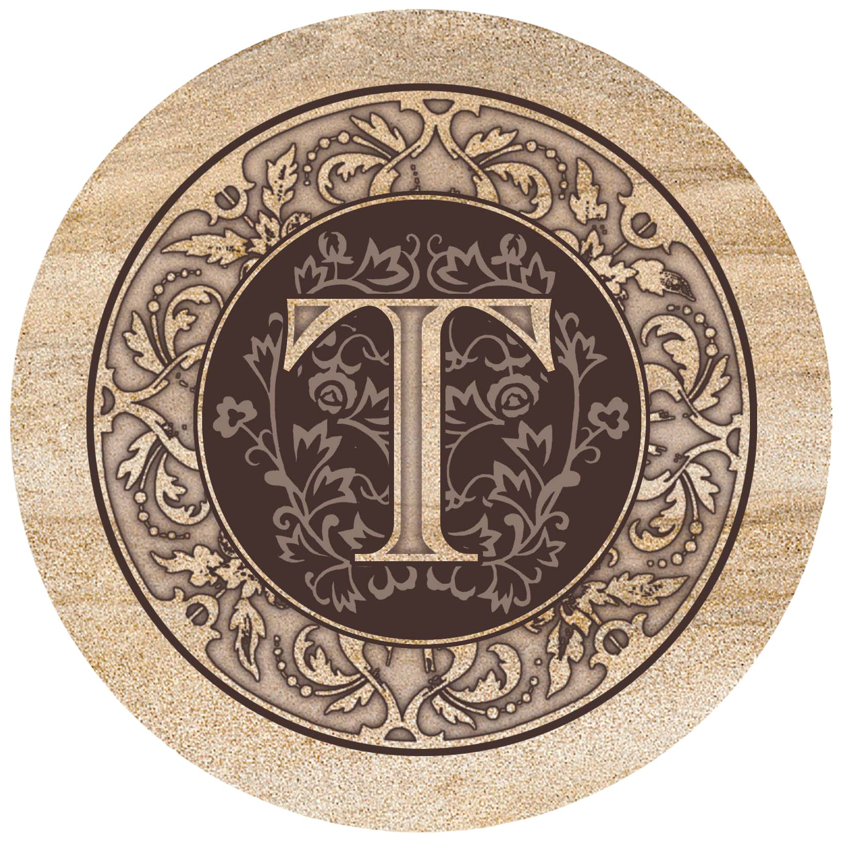 Thirstystone Drink Coaster Set, Monogrammed Letter T
