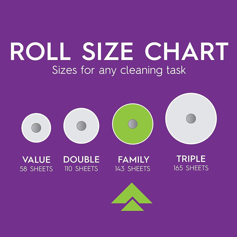 Viva Signature Cloth TaskSize Paper Towels, White, 2 Packs of 6 Family Rolls (12 Family Rolls = 30 Regular Rolls)