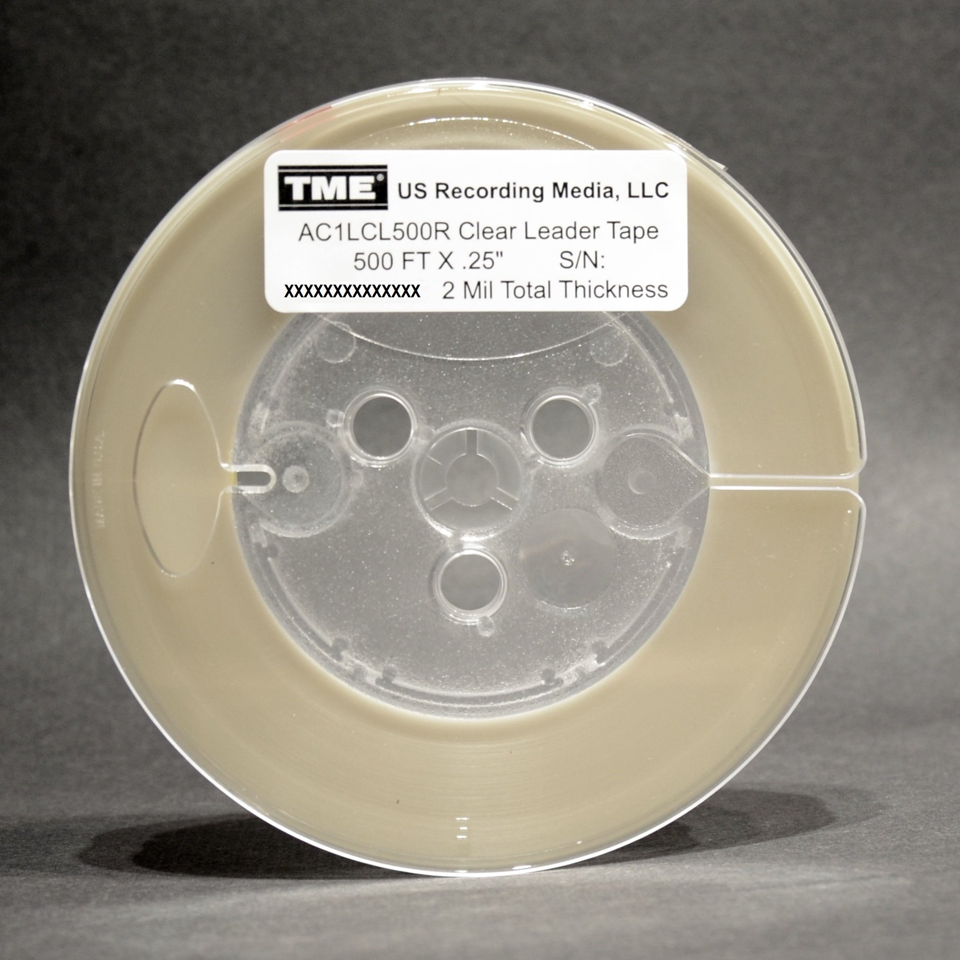 Open Reel Audio Open Reel Leader and Sensing Tape Clear 1/4'' X 500 FT AC1LCL500R