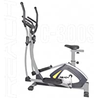 Reach C-300S Exercise Cycle with Movable Handles for Home Gym | Elliptical Cross Trainer with seat | Magnetic Resistance orbitrek Bike Exercise Fitness Equipment.