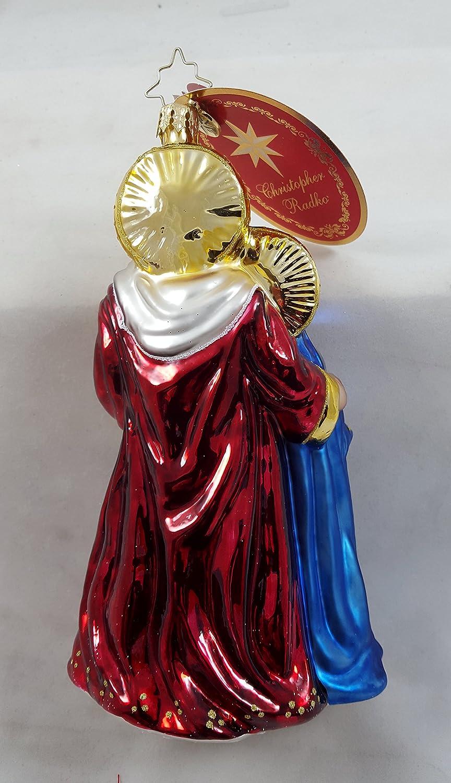 RADKO BLESSED BEGINNING Jesus Holy Family Nativity Glass Ornament