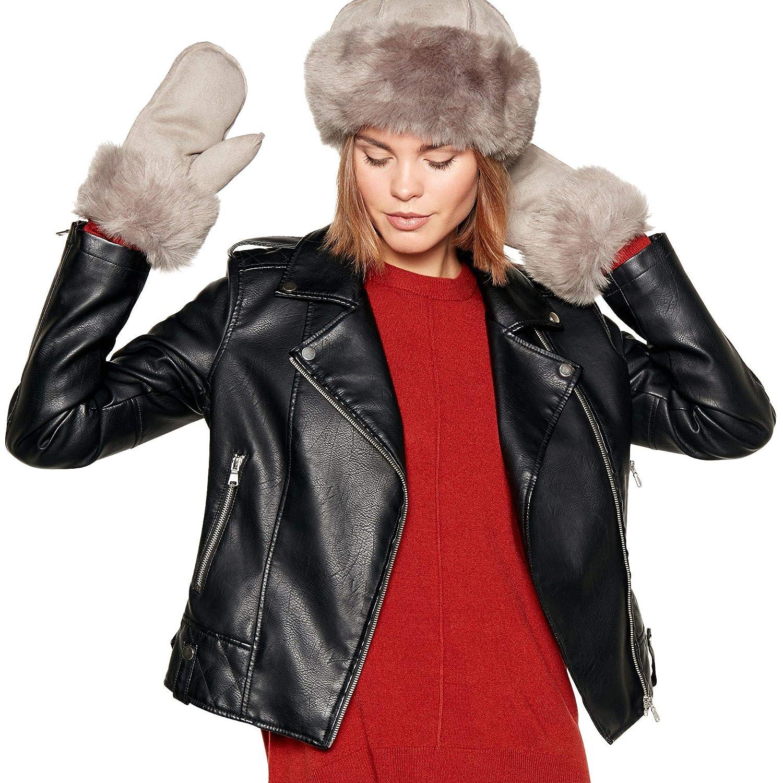 23d2830a65c8e8 Rjr.John Rocha Grey Suedette Faux Fur Lined Cossack Hat: RJR.John Rocha:  Amazon.co.uk: Clothing