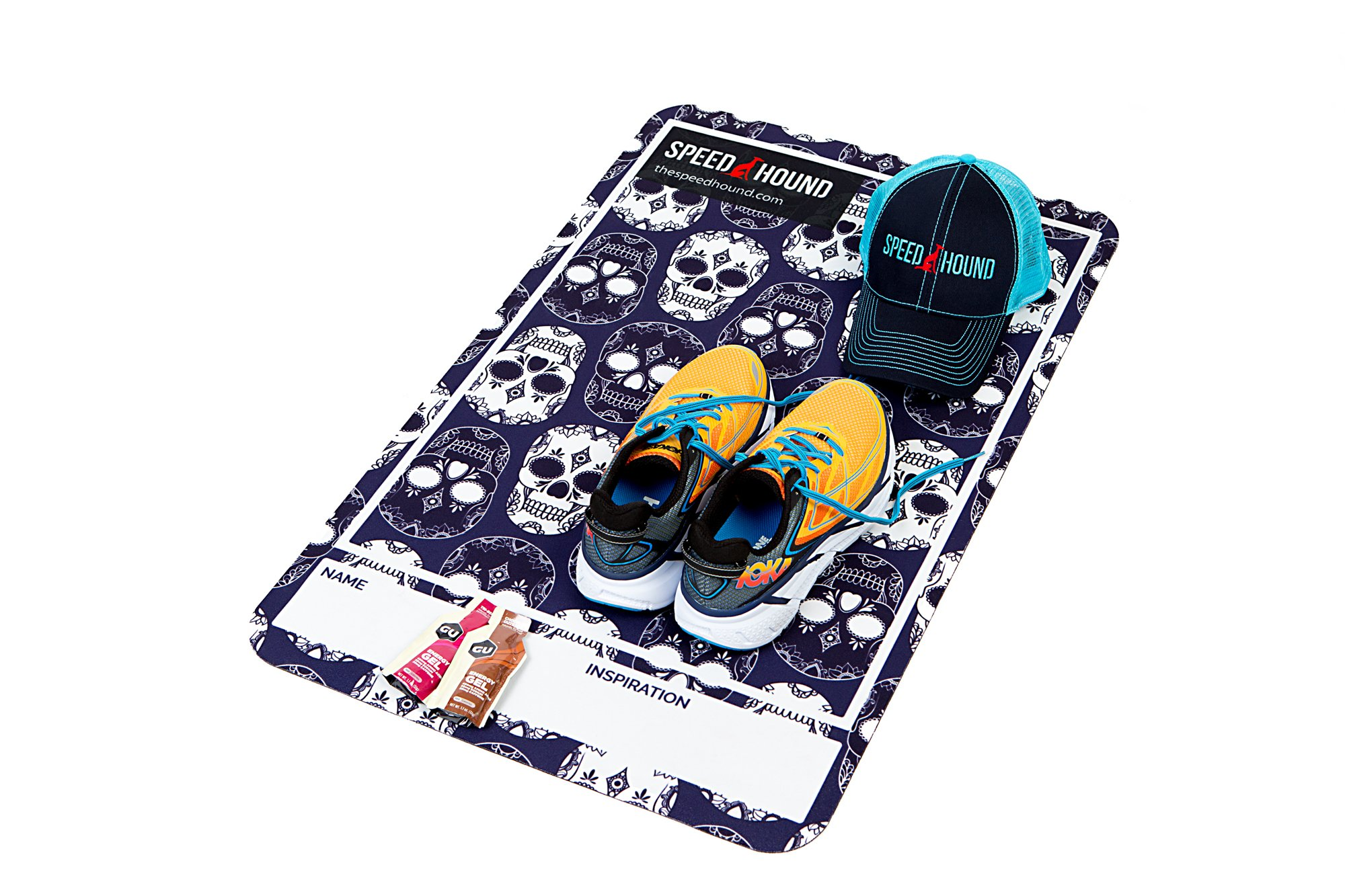Speed Hound Triathlete's #1 Choice T0 Transition Mat and Quick Dry Towel Set (Bad to The Bone) by Speed Hound (Image #3)