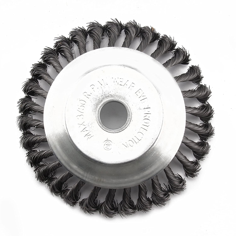Unkrautbürste Wildkrautbürste 200 x 20 mm Drahtbürste Freischneider Motorsense