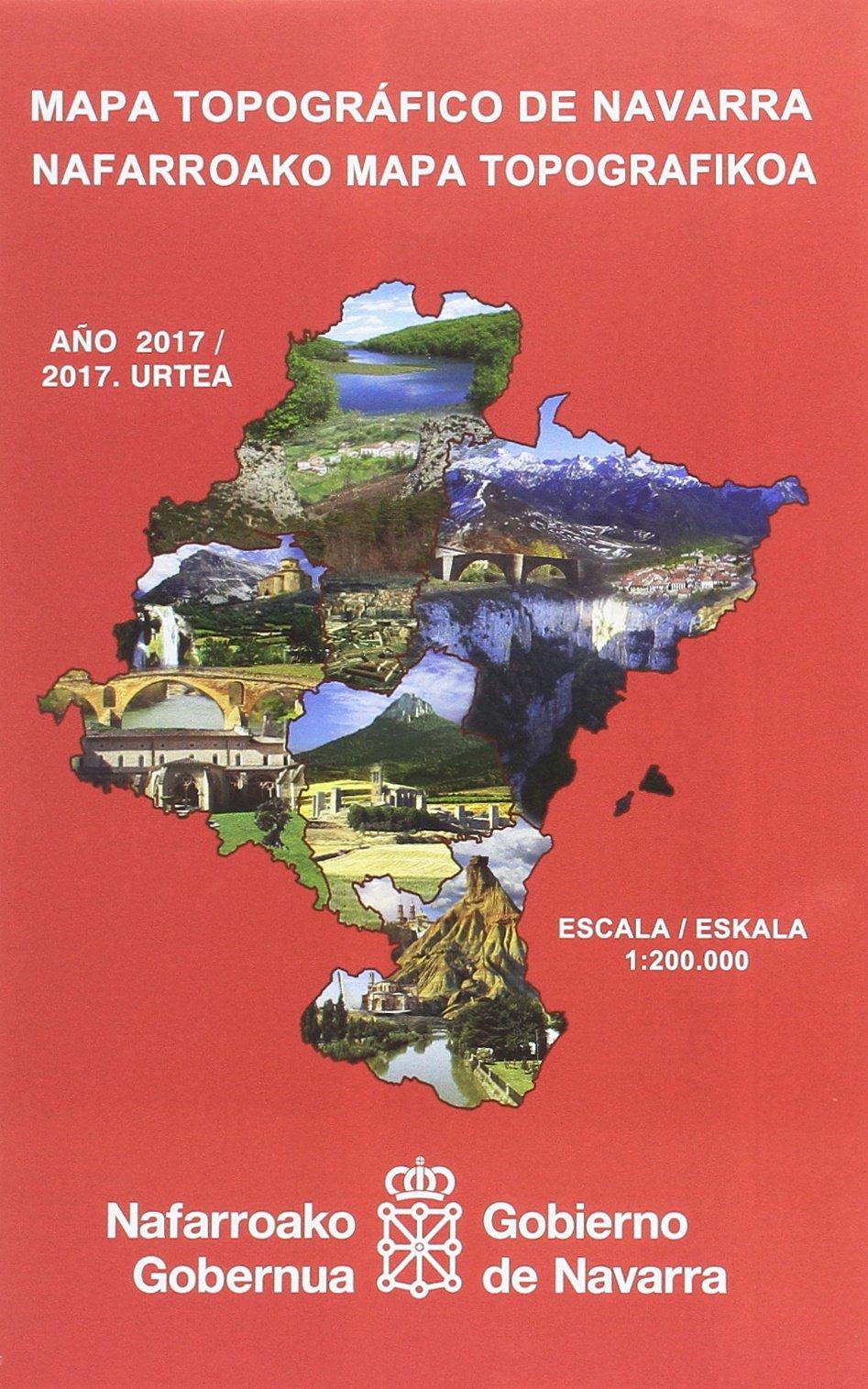 Mapa topográfico de Navarra, E 1:200.000 / Nafarroako mapa ...