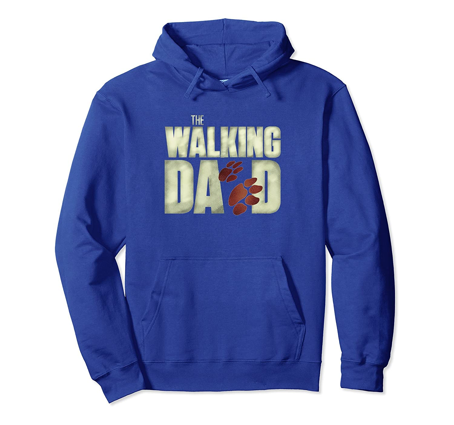 Mens Funny Men's Fear The Walking Dad Dog Lovers Hoodie-AZP