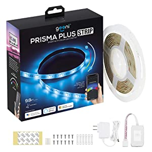 Geeni Prisma Plus Strip Smart Wi-Fi Led Light Strip Kit, New Updated Version with Brighter Colors and Tunable White Temperature, Compatible with Alexa, Multicolor