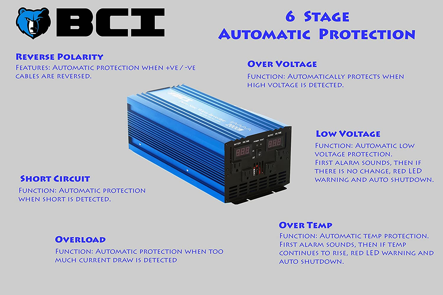 Bear Claw Industries 2000 Watt Pure Sine Wave Inverter Watts Circuit Homemade Projects 12vdc To 110vac Electronics