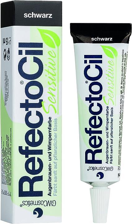 RefectoCil® - Tinte para pestañas y cejas, sensible, color negro, 15 ml, a base de plantas