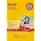"KODAK Premium Photo Paper Gloss 4""x6"", 100 count, 66lb-250g/m2 weight, 8.5 mil thickness (41157 - 1034388)"