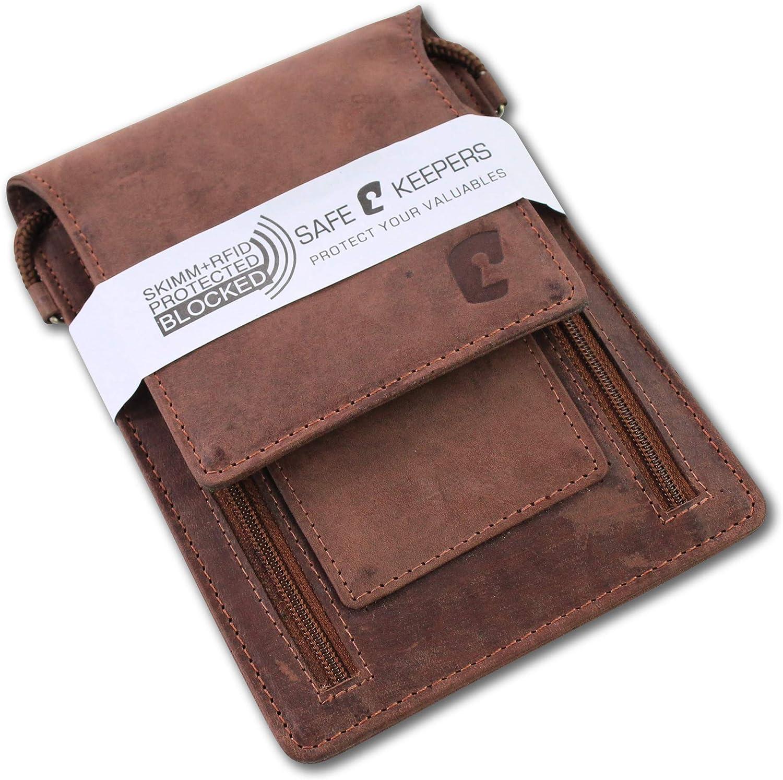 RFID Portare al Collo Unisex Borsello da viaggio Safekeepers Marsupio
