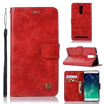 sinogoods para Lenovo K5 Note/Vibe K5 Note Funda, Cuero De ...