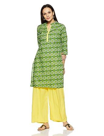 73be2816859 Rangmanch by Pantaloons Women s A-Line Kurta (110008878 Green X-Small)