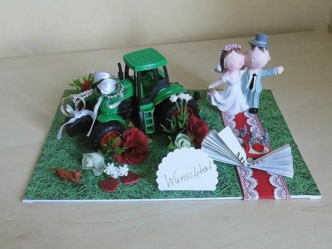 Geschenk Deko Geldgeschenk Hochzeit Traktor Bauer Roter Teppich