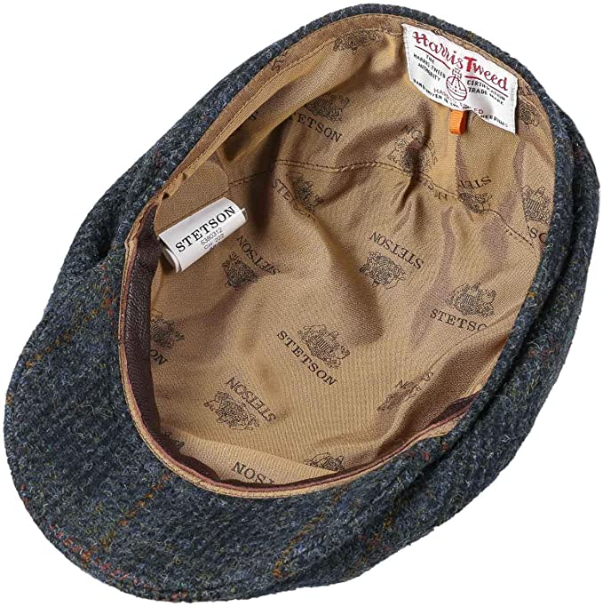 Made in Germany Cappello Invernale Piatto Cappellino da con Visiera Fodera Autunno//Inverno Stetson Coppola Harris Tweed Check Uomo